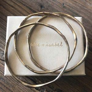 Chloe + Isabel Jewelry - Organic Bangles set of 3
